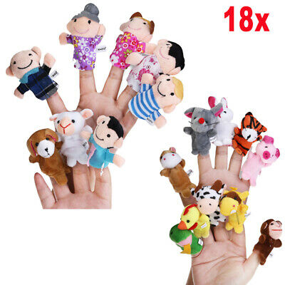 """NINE Quality Finger Puppets 4"""" Mary Meyer Brand Story Time Creative Play NEW 2+"""