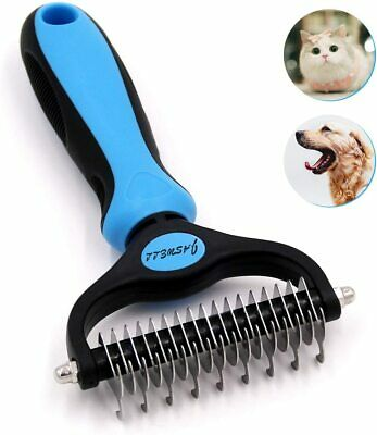 Reduce Shedding by 90/% Double Row of Stainless Steel pins Short or Long Hair Coats Cats Rabbits A/&I Dog rake deshedding dematting Brush Comb Undercoat rake for Dogs Brush for Shedding