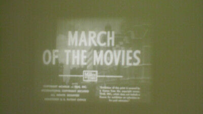 March Of The Movies 1933 Documentary Super 8 B/W Sound 400Ft Cine 8Mm Film Rare