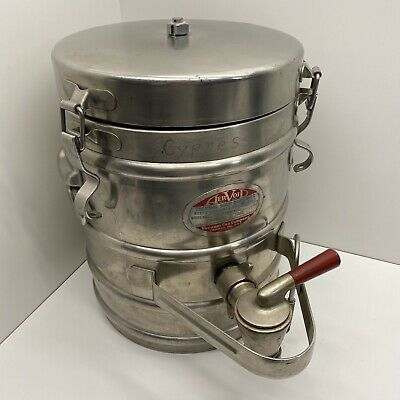 AerVoid Thermal Liquid Carrier Model 3X15 Stainless Steel 3 Gallon Hot or Cold
