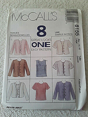 McCall/'s 8155 Misses/' Top and Jacket in Two Lengths   Sewing Pattern