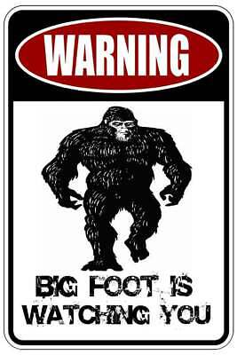SOCIAL DISTANCING FOR YEARS BIG FOOT sign Metal funny man cave house decor B730