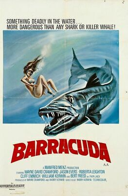 Barracuda Super 8 Colour Sound 3 X 400Ft Cine 8Mm Film Cult Marketing Release