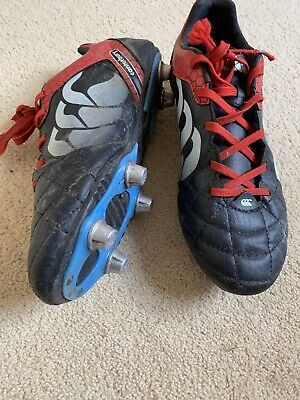 Rugby Boots Size 6 Black With Metal Studs Canterbury 9 70 Picclick Uk