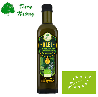 OIL SPANISH CHIA SEEDS 100% Cold Pressed Unrefined Organic Pure Natural 100ML !