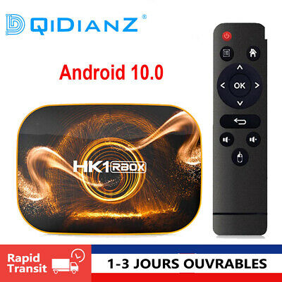 HK1 RBOX R1 TV Box Android 10 Rockchip RK3318 4K Google Play Lecteur multimédia