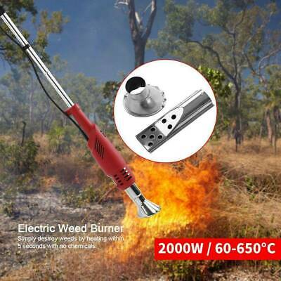 NoGas Electric Garden Weed Burner Killer Torch Patio Hot Air Blaster 2000W 650°c