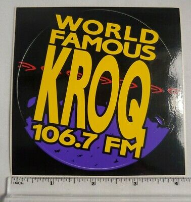 KROQ promo sticker lot 1991 radio station 106.7 Los Angeles bumper reggae RARE