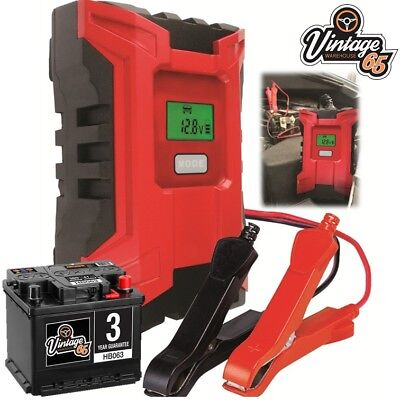 Classic Car Fully Automatic Intelligent 6A 6/12v Digital Battery Trickle Charger