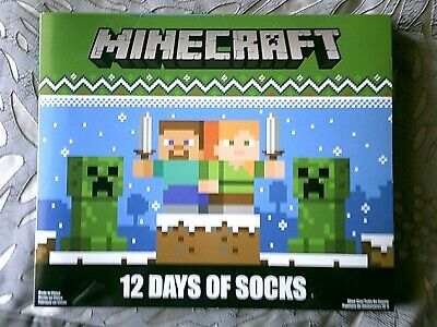 Boys 12 Days of Socks Minecraft  Size 4-10