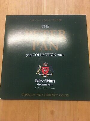The 2020 Peter Pan 50p Coin Set Isle Of Man Band new