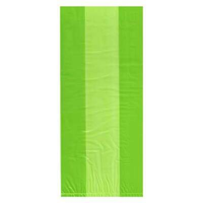 Lime Green Coloured Cellophane Bags Party Bag Gift Loot Sweet Birthday Cello