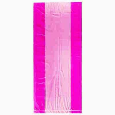 Hot Pink Coloured Cellophane Bags Party Bag Gift Loot Sweet Birthday Cello