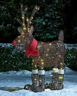 LED CHRISTMAS RUDOLPH in BOOTS
