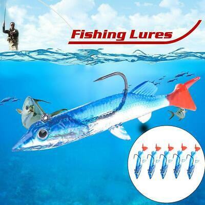 Minnow Night Fishing Lure Kurbelköder Haken Bass Fish Tackle Crankbait H5H4