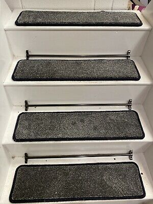 14  CARPET STAIR TREADS, BLEACH CLEANABLE, 70cm X 19cm EXTRA LARGE