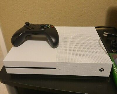 MINT Microsoft XBOX ONE S 1TB HD CONSOLE with Power Cable HDMI... MINT CONDITION