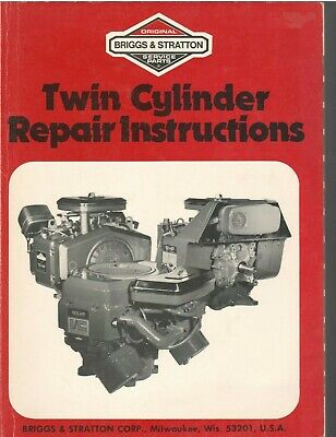 Briggs & Stratton Twin Cylinder Repair Instruction Manual 271172 Nice