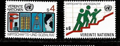 1980 United Nations (Vienna) full set of 2 stamps Eco and Social Council in UMM