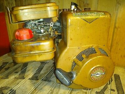 Vintage 2HP Briggs & Stratton Engine Go-Kart Tiller Edger Horizontal Shaft Runs!