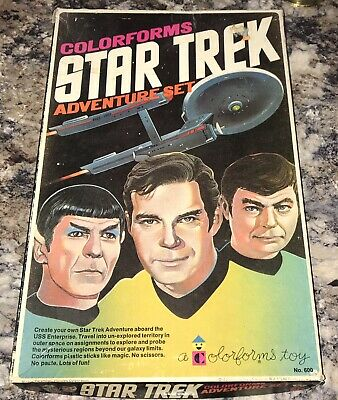 Colorforms STAR TREK Adventure Set 1975 COMPLETE Vintage