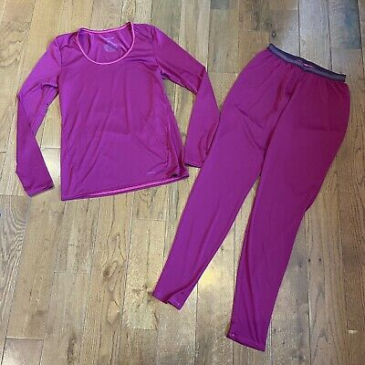 Womens Patagonia Capilene 1 Silkweight 2 Piece Set Outfit Purple Sz M