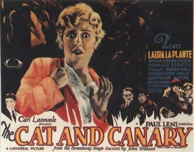 The Cat And The Canary 1927 Super 8 B/W Silent 7 X 200Ft Feature Cine 8Mm Film