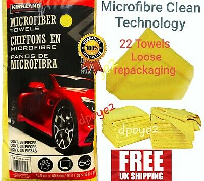 Kirkland Signature Ultra Plush Microfibre Towels XL 40cm Microfiber Clean x 22