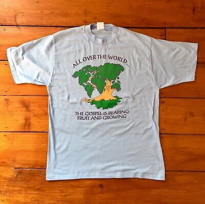 Vintage christadelphians Worldwide T Shirt Size Medium M - Christian Holy Jesus