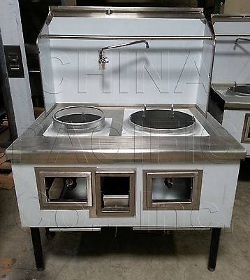 """2 Hole 2 Burner Chinese Wok Range 13""""-18"""" NSF & CSA NEW Contact Us For Details!"""