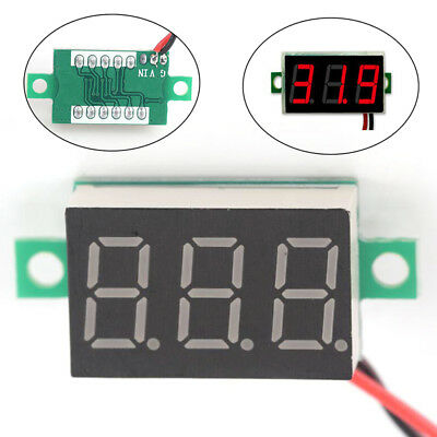 3-Wires Mini DC 0-100V Voltmeter LED Panel 3-Digital Display Voltage Meter_N G3