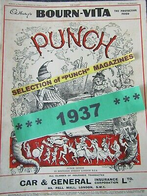 """Adverts Humour Cartoons Huge Selection /& Discounts PUNCH MAGAZINES """"1924-25"""""""
