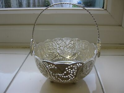SOLID SILVER  PERSIAN BOWL WITH HANDLE & HALLMARK, 157 grams