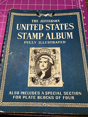 OLD U.S.A. STAMP LOT - 150 + stamps + old album