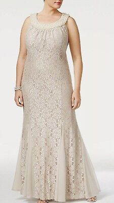 Women's Formal Dresses Plus Size 18W Champagne Mother of the Bride R&M #G20 NEW
