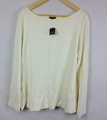 Details about  /New J Jill Wearever Cream Ottoman Knit V Neck Tunic All Sizes