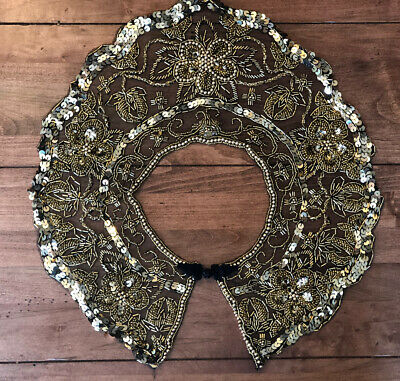 Lace And Beaded Collar