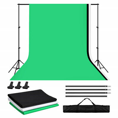 Photography Screen Backdrop Studio Black White Green Screen Background Stand Kit