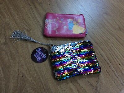 Disney Princess small change Purse and New Sequin Purse