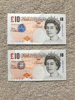 £10 ten pound Darwin-Bailey banknote, uncirculated, mint condition UNC
