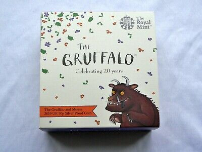 The Gruffalo and Mouse 2019 UK 50p Fifty Pence Silver Proof Coin by Royal Mint