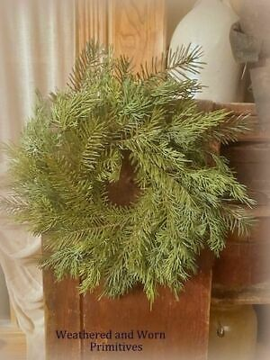 """Very Realistic Primitive Country Variegated Sticky Cedar Hanging Bush 27/"""" Long"""
