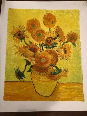 """Vincent van Gogh's """"Sunflowers""""  oil on canvas - Free Shipping"""