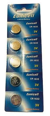 5 X CR1632 Genuine EUNICELL 3V Lithium COIN CELL BUTTON BATTERIES DL1632 LM1632