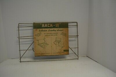 Vintage New Over Door Drying Rack Laundry Folding Hanger Clothes Dryer Portable