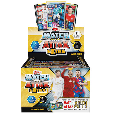 TOPPS MATCH ATTAX EXTRA - SEASON 2019/20 CARD GAME  48 Packet  BOX