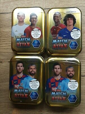 Topps Match Attax 4 Random tins Trading  Season 2019/20 UEFA Champions League