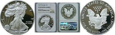 2019 W $1 Proof American Silver Eagle NGC PF 69 Ultra Cameo Brown Label #001