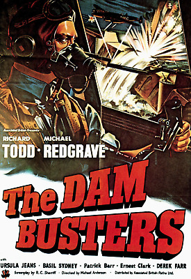 The Dam Busters 1955 Super 8 B/W Sound 400Ft Cine 8Mm Film Michael Redgrave