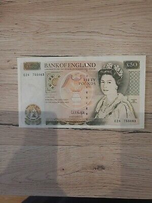 Bank Of England 50 Pound Note Cashier CBA Kentfield, Near Mint Condition